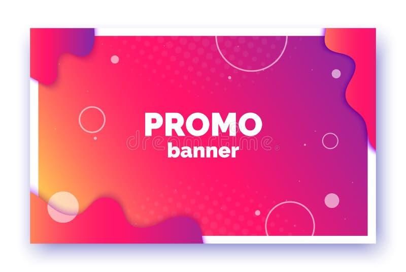 Banner voor verkoop, aanbieding, bevordering, reclame In vectorachtergrond, vlieger, affiche, pagina, dekking met samenvatting stock illustratie