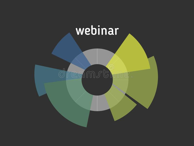 Banner webinar, vector. Webinar banner, online learning, online seminar and education, electronic media and similar training, vector stock illustration