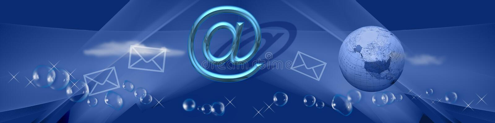 Banner World wide communication stock images