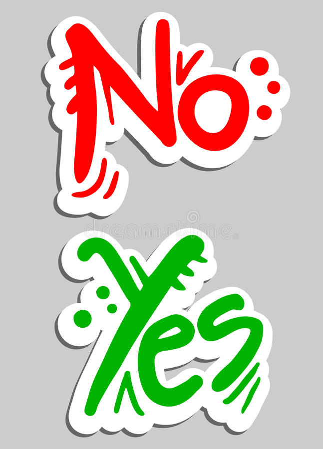 Banner yes no vector illustration