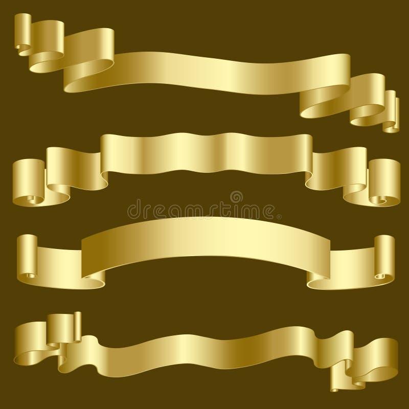 banner złota wstążki ilustracji