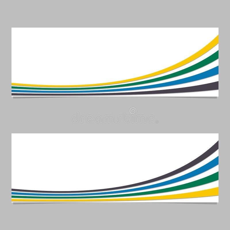 Bannerachtergrond van krommen - vector grafisch ontwerp met 3d effect royalty-vrije illustratie