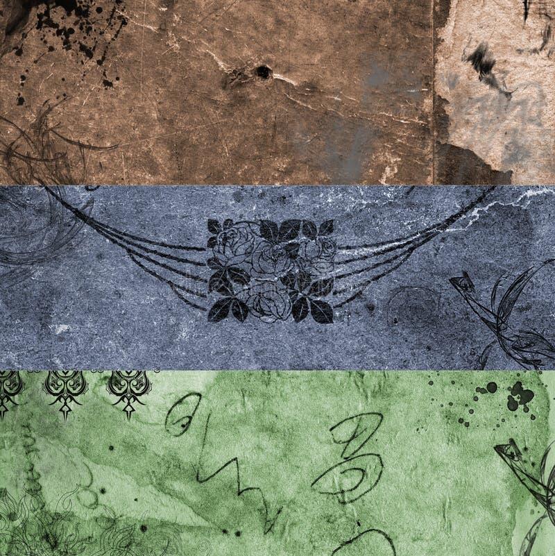 Banners 3 van Grunge stock illustratie