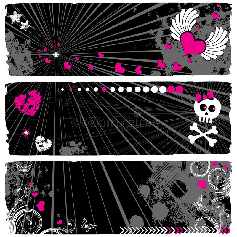 Download Banners stock vector. Image of backgrounds, plant, bone - 7371133
