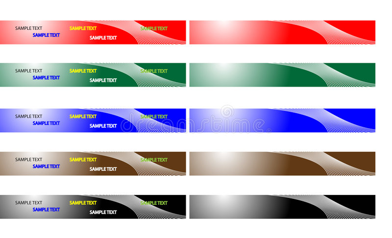 Download Banners stock vector. Image of black, banner, colors, design - 7692461