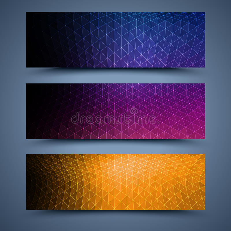 Color banners templates. Abstract backgrounds royalty free illustration