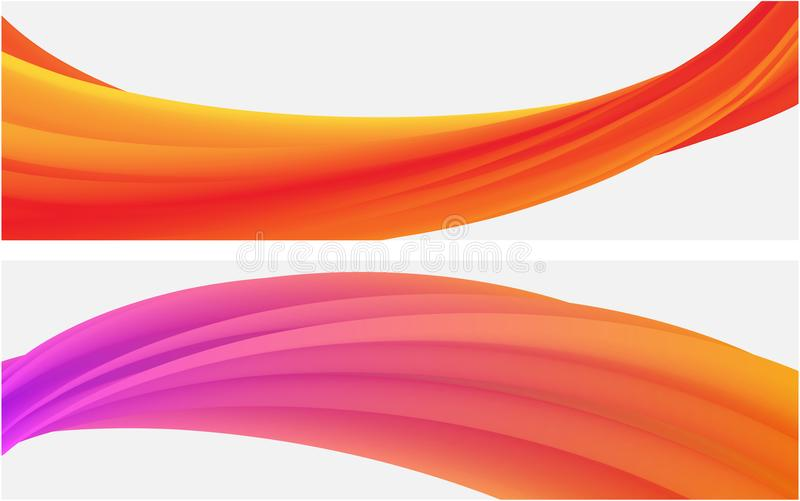 Banners with abstract colorful pattern on white. vector illustration