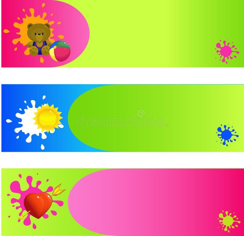 Banners, achtergronden royalty-vrije illustratie