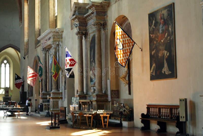 Banners als deel van Palio-Di Siena, Toscanië royalty-vrije stock afbeelding