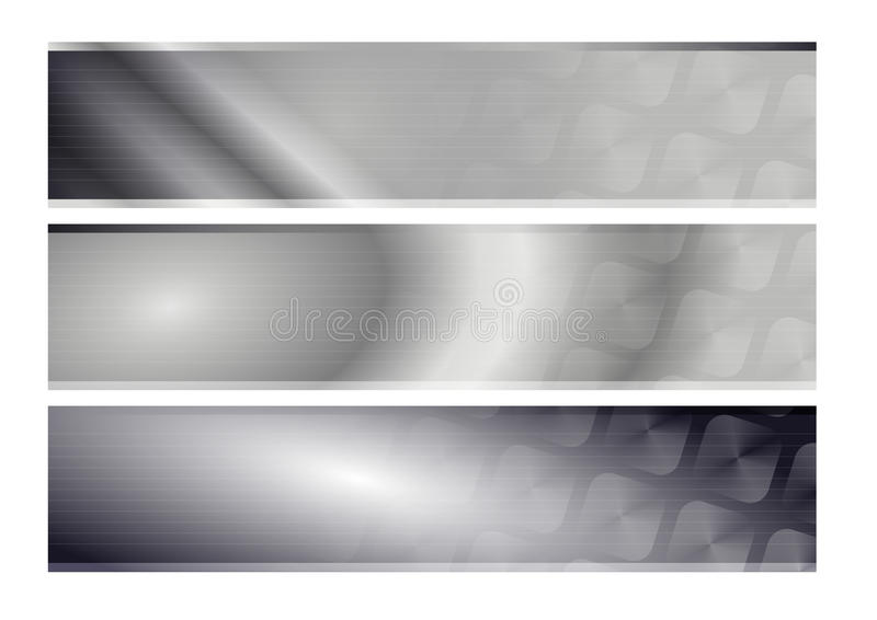 Banners in black and white royalty free stock images