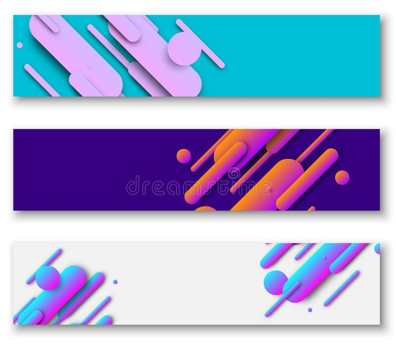 Banners with bright abstract painted pattern. vector illustration