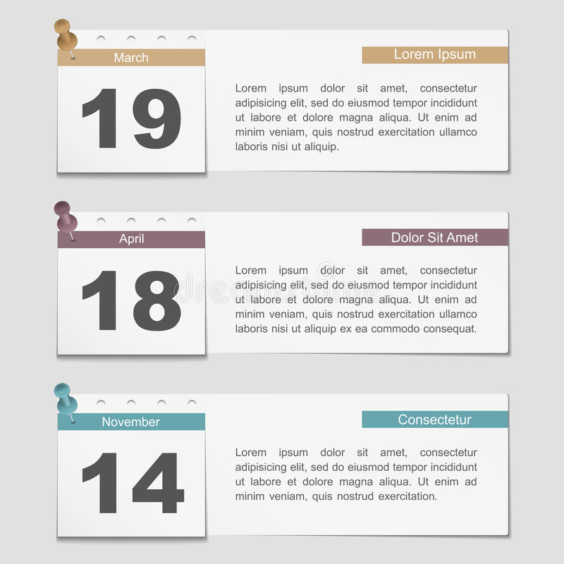 Download Banners With Calendar Pages Stock Vector - Image: 34380491