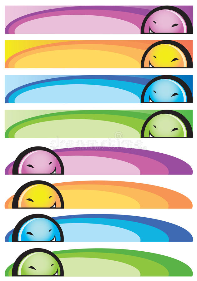 Download Banners with face stock vector. Image of design, abstract - 16886696