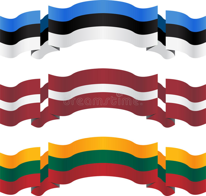 Download Banners And Flags Of Baltic States Stock Vector - Image: 30935769