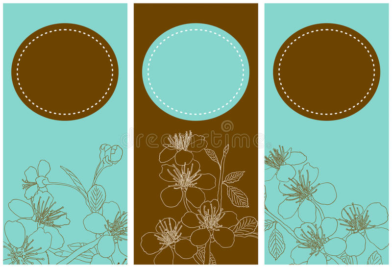 Download Banners With Flowers Of The Cherry Blossoms Stock Vector - Image: 29394910
