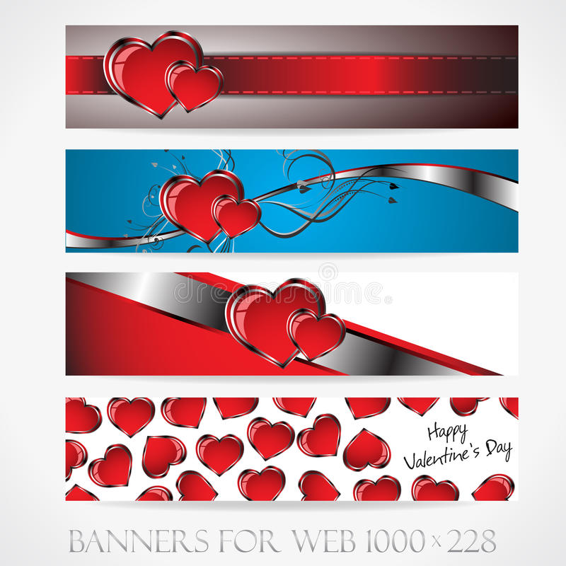 Free Banners For Web. Love. (Vector Collection9) Stock Photos - 28624623