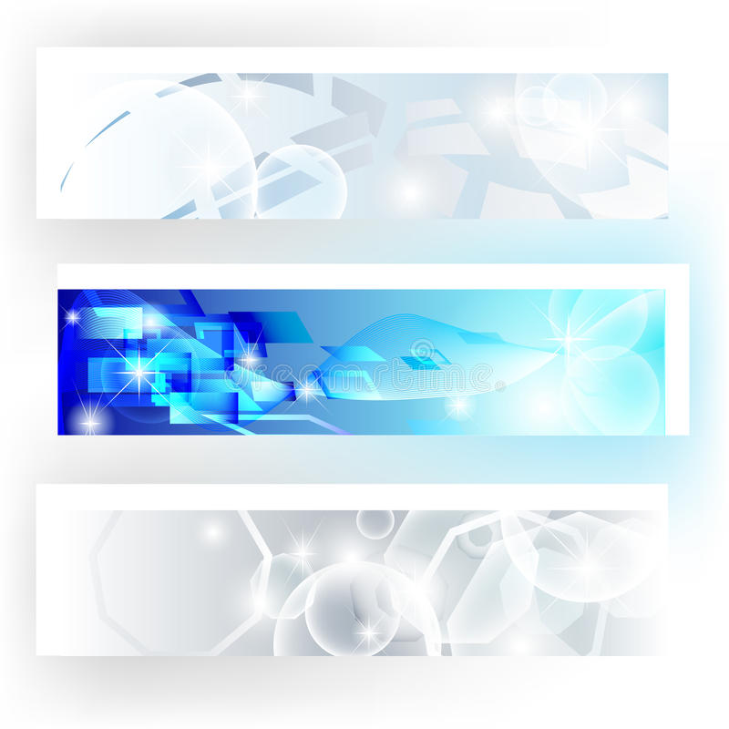 Download Banners In Grey And Blue Colors Stock Vector - Illustration of blue, fashion: 23875824