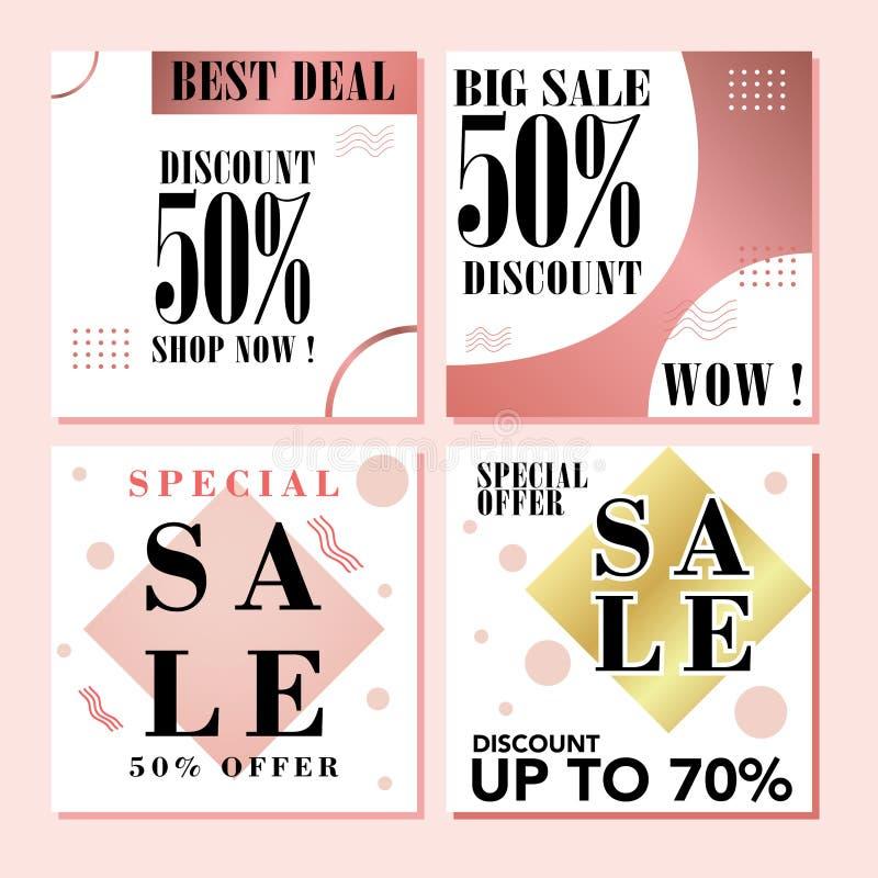 Banners het Winkelen achtergrond, etiket voor bedrijfsbevorderingswebsite en mobiele website banners_03 stock illustratie