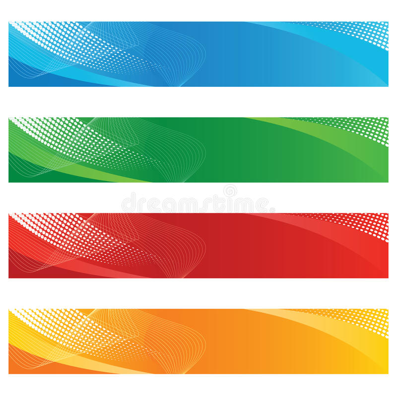 Free Banners In Halftone And Curved Lines Stock Photos - 13677213