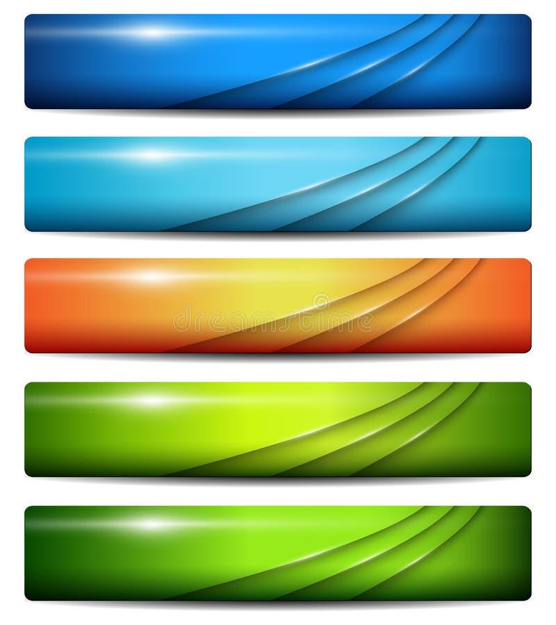 Banners, kopballen vector illustratie