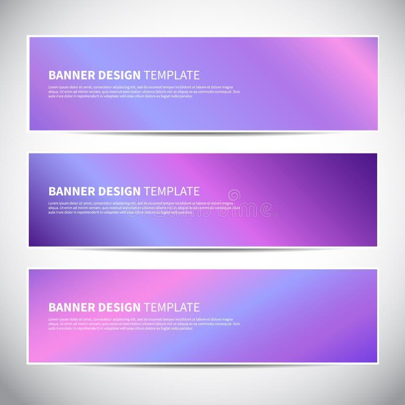 Banners of kopballen met holografische gradiënt kleurrijke achtergrond royalty-vrije illustratie