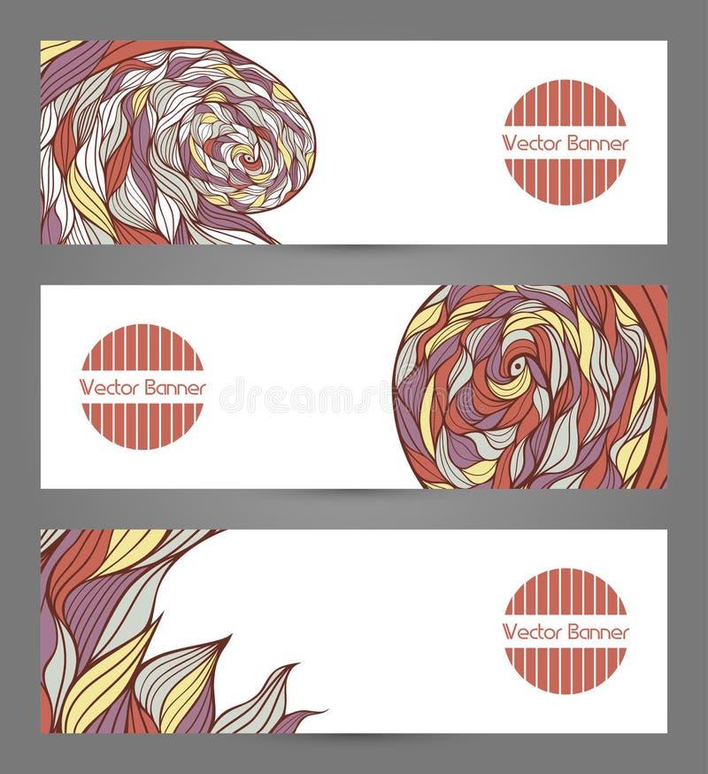 Banners met abstracte golven vector illustratie
