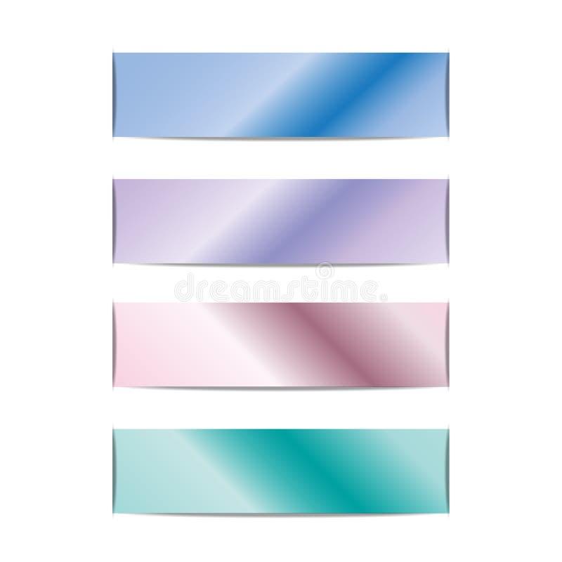 Banners met holografische blauwe gradiënt kleurrijke achtergrond Ontwerp voor uw banners, kopballen, vliegers, kaarten vector illustratie