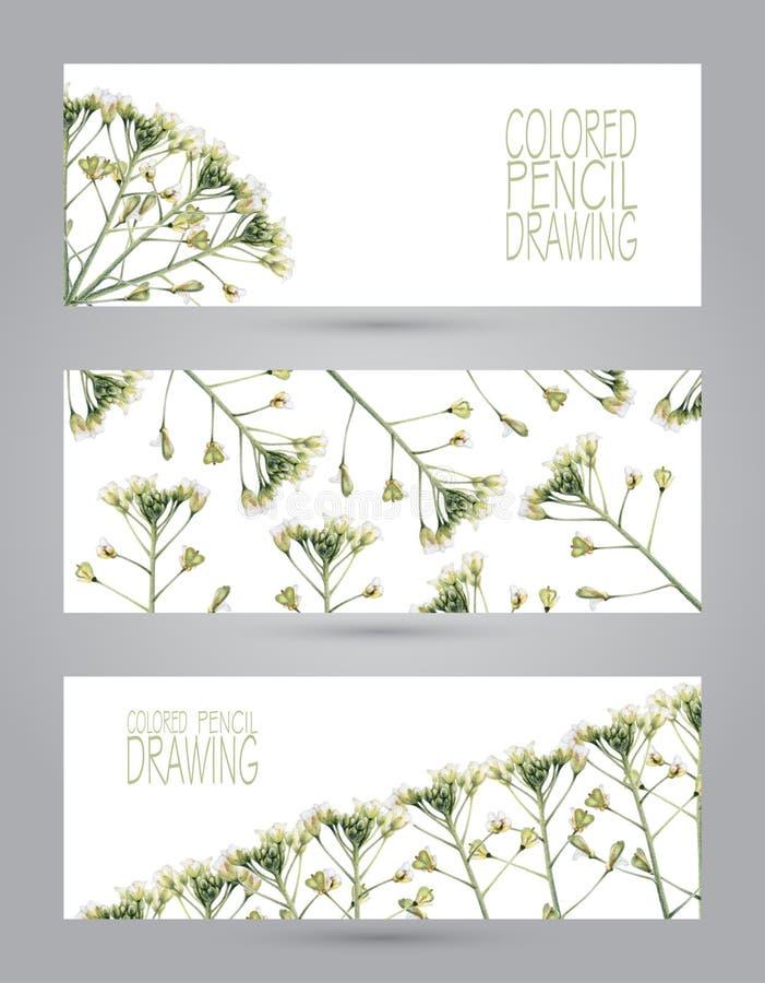 Banners met mooie de lenteinstallaties vector illustratie