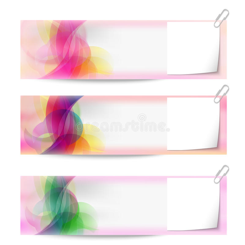 Banners and notepaper royalty free illustration