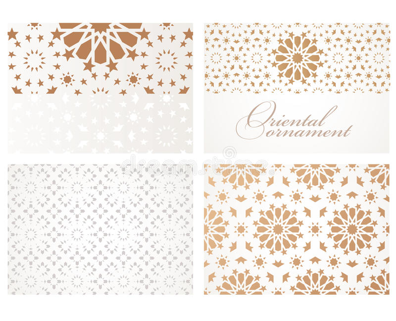 Banners in oriental style stock illustration