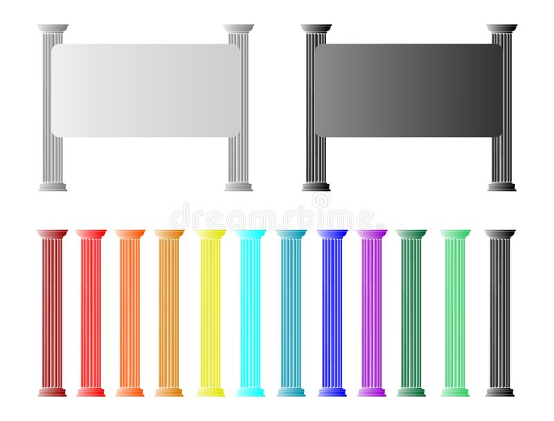 Banners and roman columns - cdr format royalty free stock image