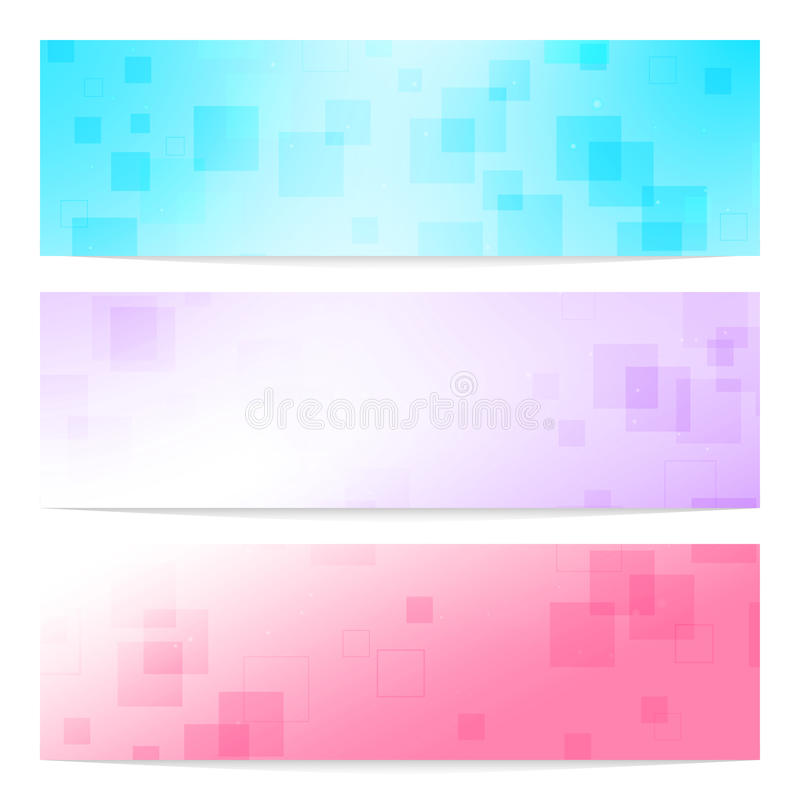 Free Banners Set With Squares Royalty Free Stock Photography - 26248337