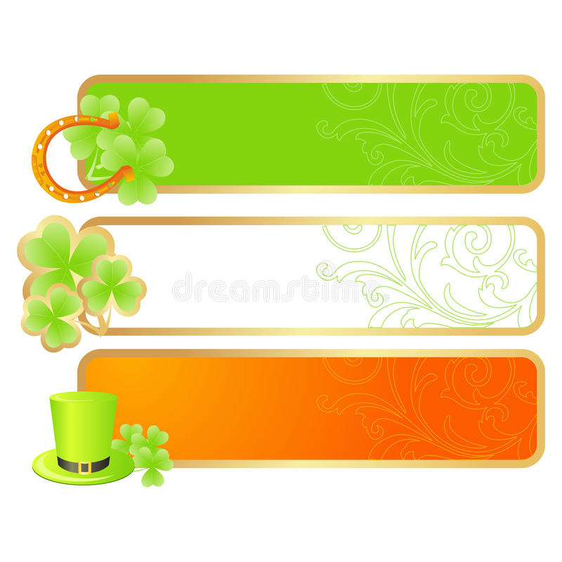 Download Banners For St. Patrick's Day Stock Vector - Image: 12405558