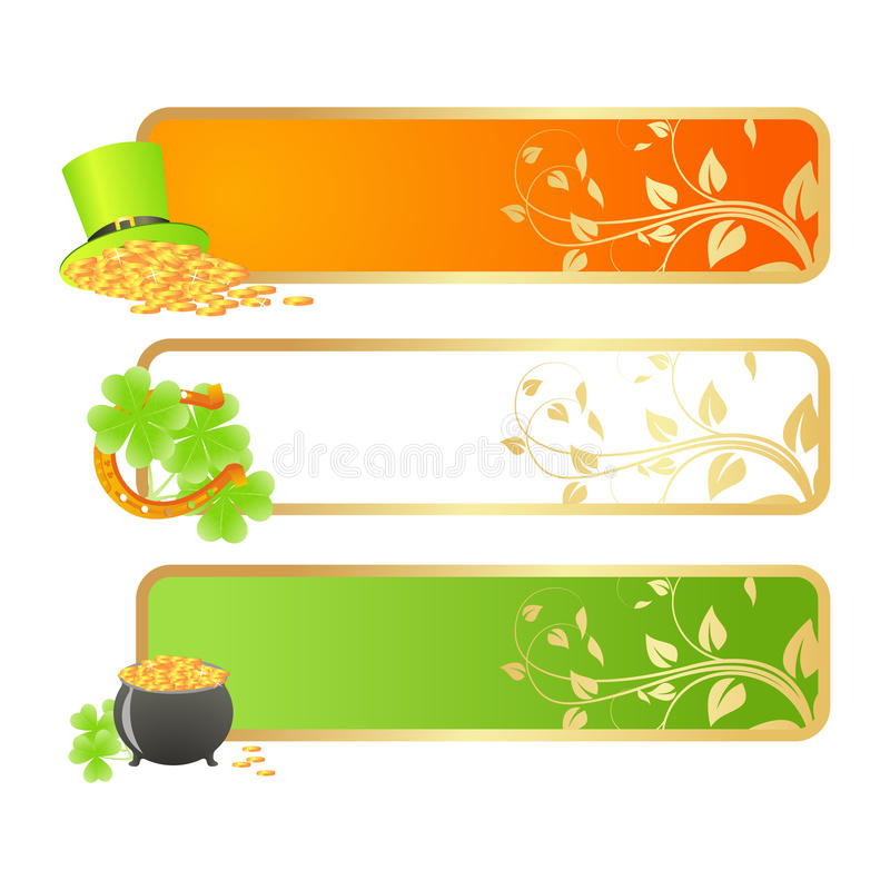 Download Banners For St. Patrick's Day Stock Vector - Image: 23445948