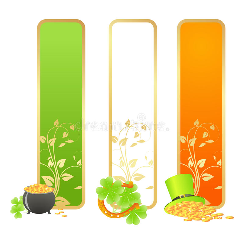 Download Banners For St. Patricks Day Stock Vector - Image: 28858642