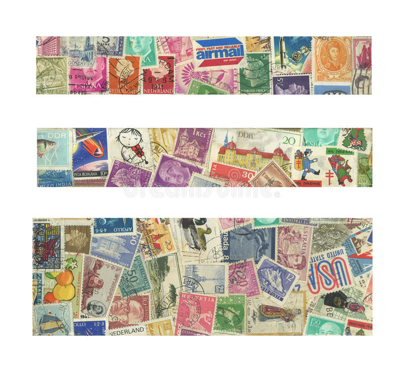 Banners of stamps royalty free stock photos