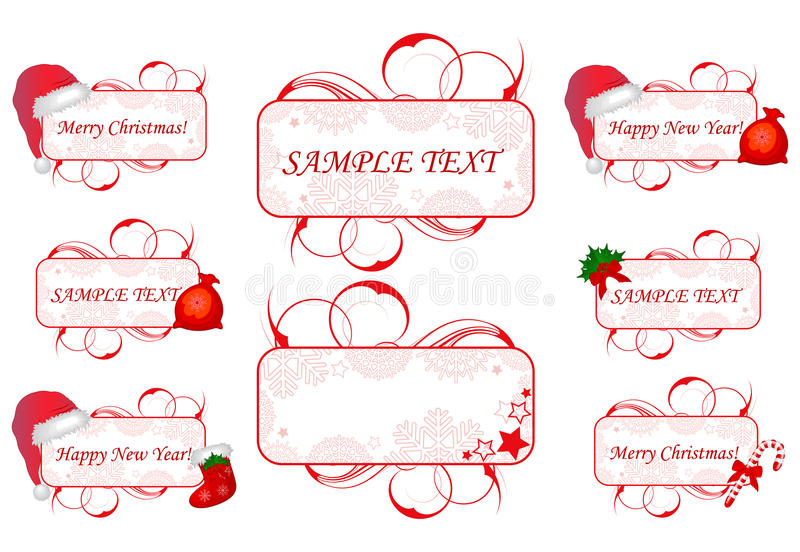 Banners with subjects of Santa vector illustration