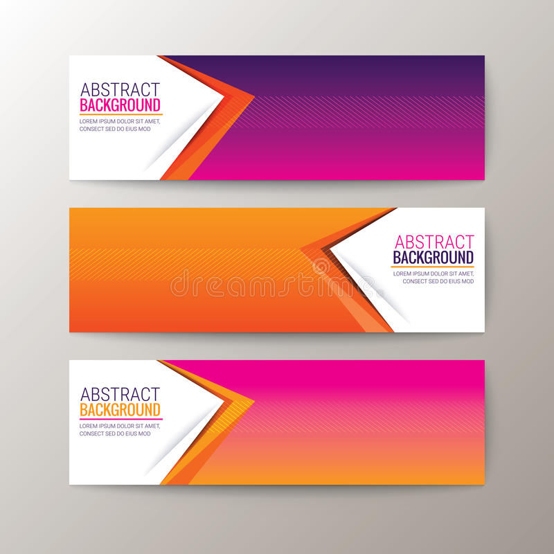 Banners template with abstract triangle shape pattern background. Set of modern design banners template with abstract triangle shape pattern background vector illustration