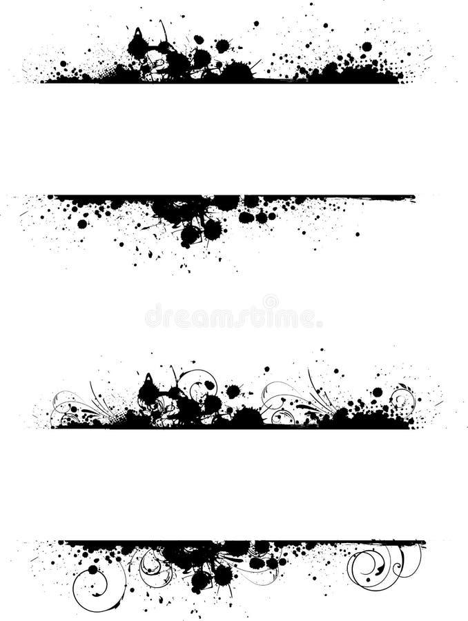 Download Banners Van Het Grunge De Bloemenkader Vector Illustratie - Illustratie bestaande uit manier, luxe: 39102788