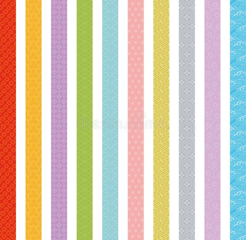 Banners van Japans traditioneel ontwerp stock illustratie