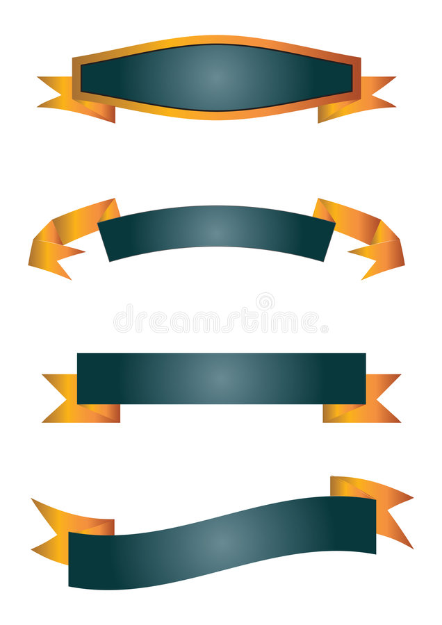 Banners - vector royalty-vrije illustratie