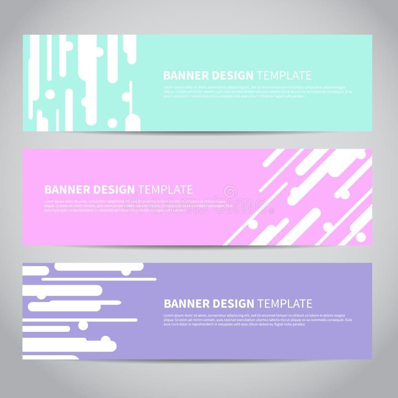 Banners vectorontwerp of van het kopballenweb malplaatje met abstracte geometrische in achtergrond stock illustratie