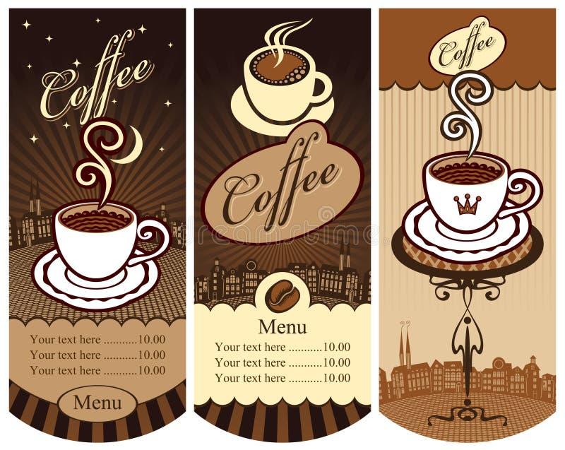 Banners voor lokale koffie stock illustratie