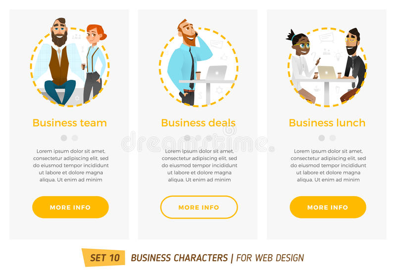 Banners voor uw Webontwerp in bedrijfsstijl royalty-vrije illustratie