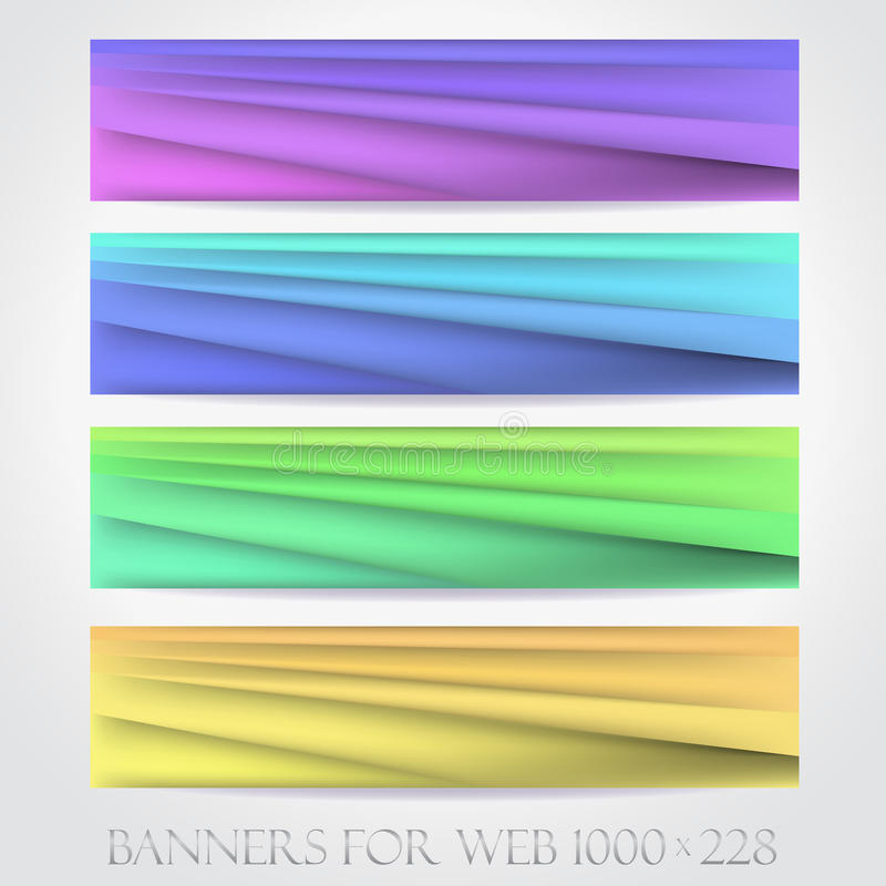 Banners for web. (Vector collection16) royalty free illustration