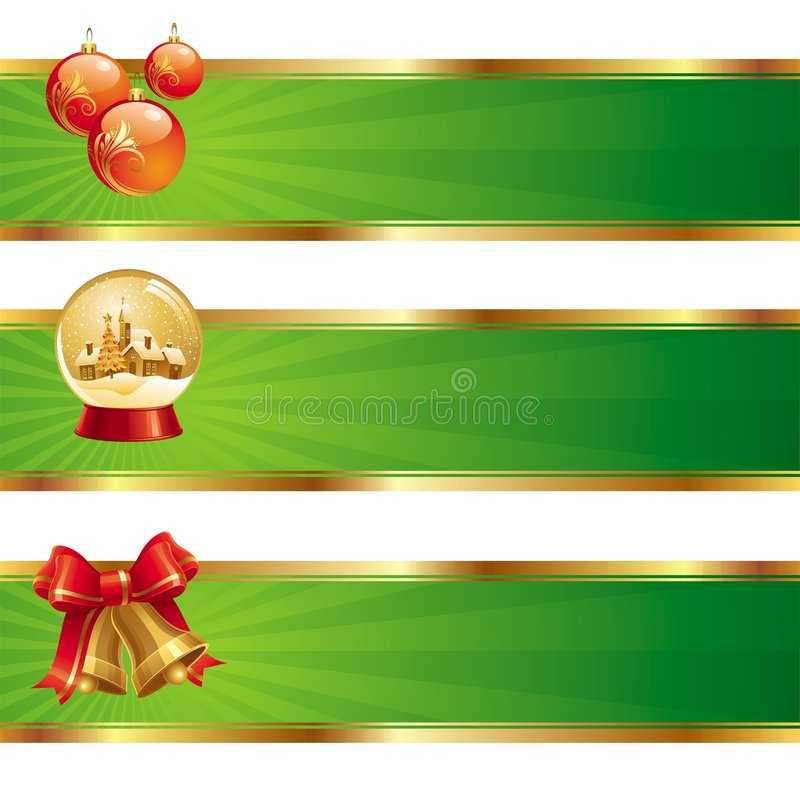 Free Banners With Christmas Symbols Stock Photos - 6786843