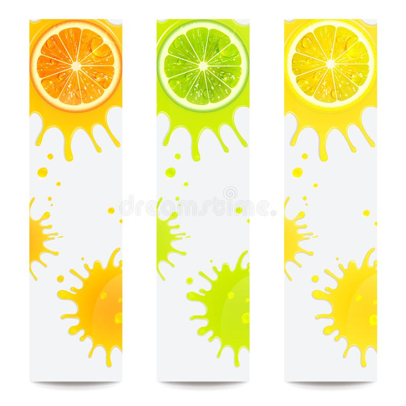Free Banners With Juicy Citrus Fruits Stock Photo - 116804520