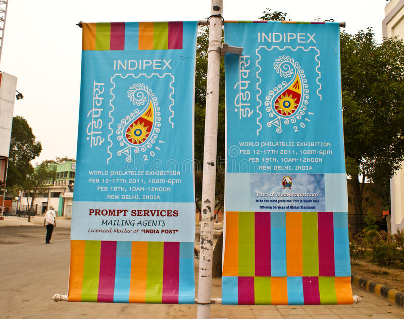 Banners of World Philatelic Exhibition 2011 royalty free stock photos