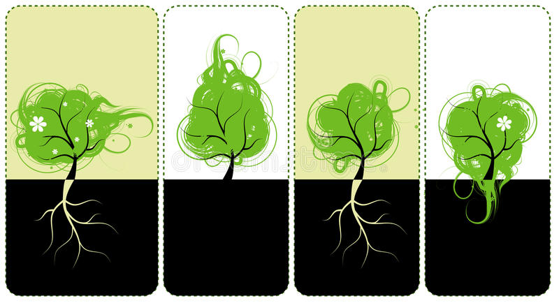 Banners for you design, art trees royalty free illustration