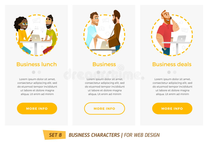 Banners for your web design in business style vector illustration